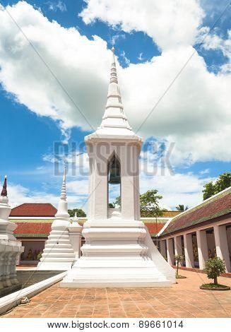 Campanile At Wat Phra Borommathat Chaiya