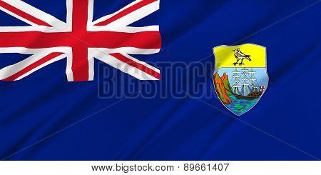 Flag Of Saint Helena, Ascension And Tristan Da Cunha