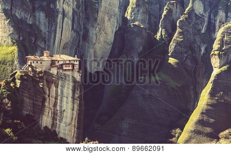 Meteora monasteries in Greece.