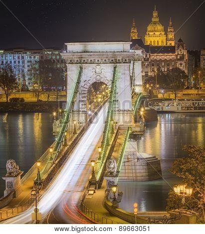 View Of Chain Bridge, Budapest