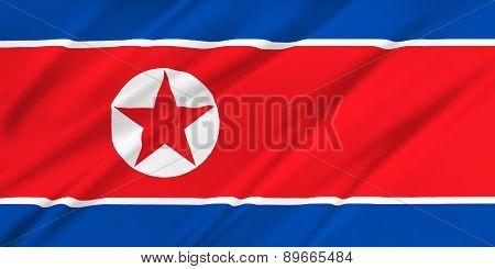 Flag Of Korea North