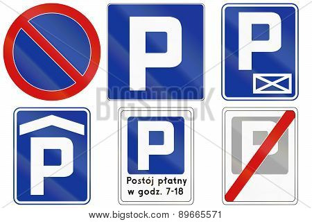 Parking Signs In Poland