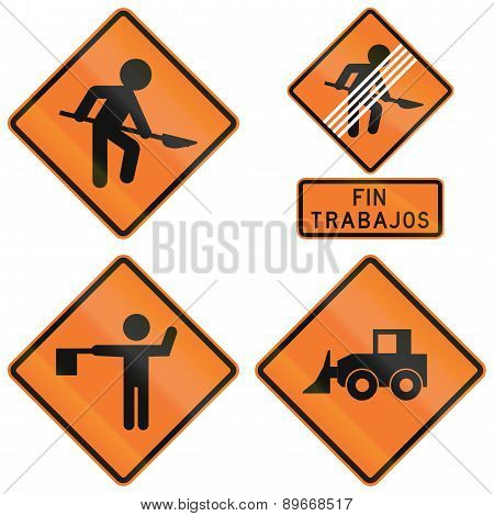 Road Works Signs In Chile