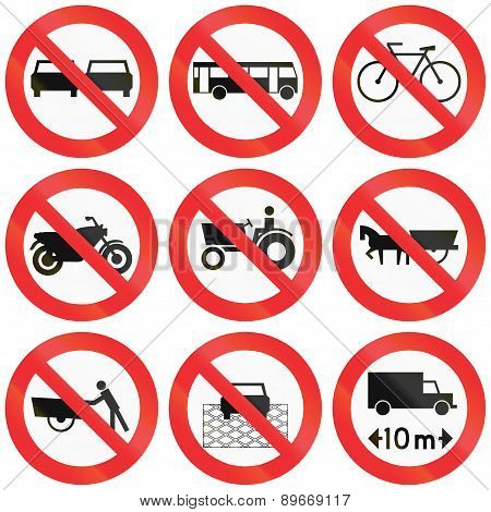 Prohibition Signs In Chile