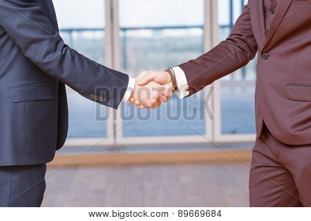 Handshake close up