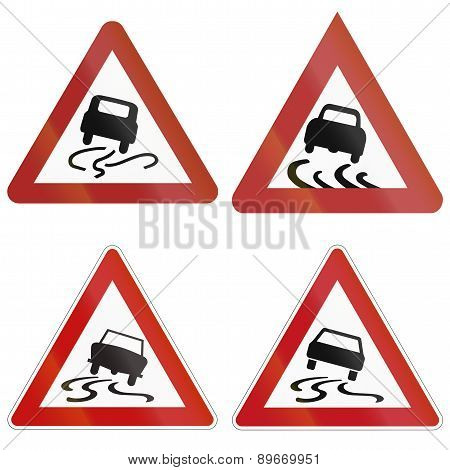 Slip Danger Signs In Germany