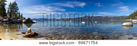 Lake Tahoe Panoramic Landscape