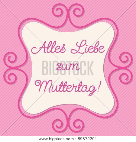 German Doodle Frame Card In Vector Format.