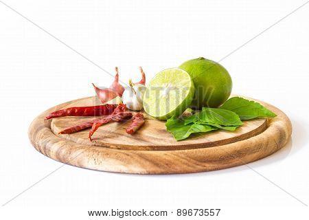 Lemon And Vegetables For Health