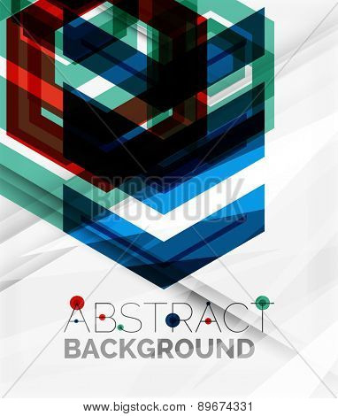 Geometric abstract background. Arrow, technology or motion concept