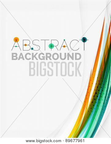 Bright colorful line abstract background, motion concept