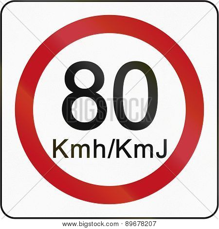 Speed Limit 80 In Brunei