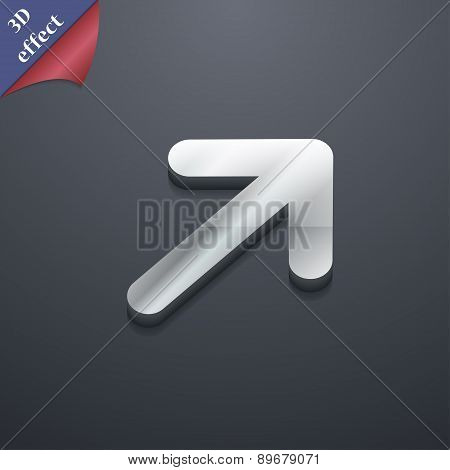 Arrow Expand Full Screen Scale Icon Symbol. 3D Style. Trendy, Modern Design With Space For Your Text