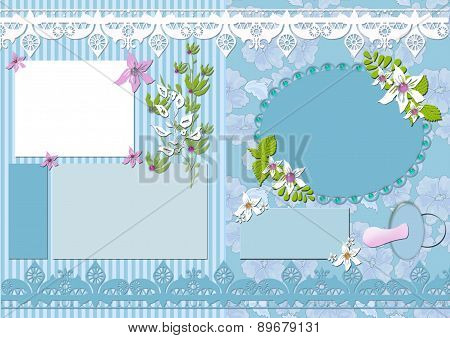 Vintage Kids Scrapbook Elements Card