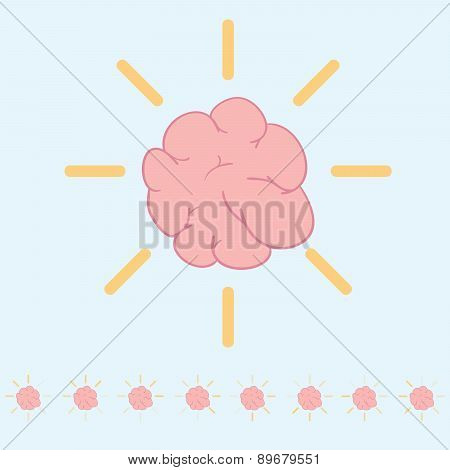 Brain Loading Icon Vector Illustration