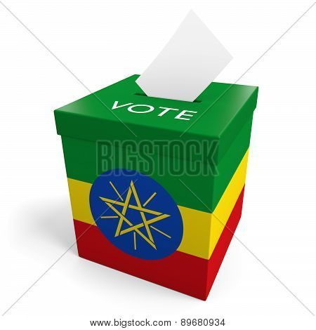 Ethiopia election ballot box for collecting votes