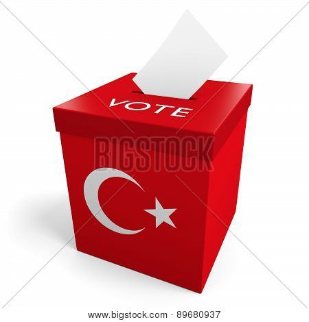 Turkey election ballot box for collecting votes