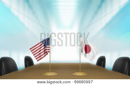 United States and Japan Trans-Pacific Partnership trade deal talks