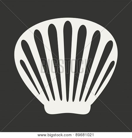 Flat in black and white mobile application shell