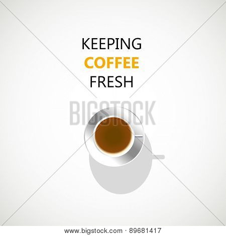 coffee cup brochure, easy all editable