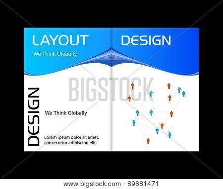 Business modern cover, easy all editable