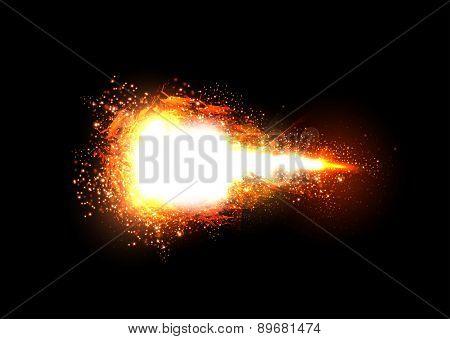 Sparkling stars light effect, easy editable