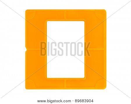 Photo frame for slide isolated on white background