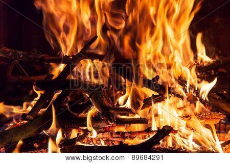 Burning Billets In Hot Stove
