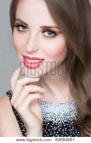 Beautiful portrait of sensual european young woman