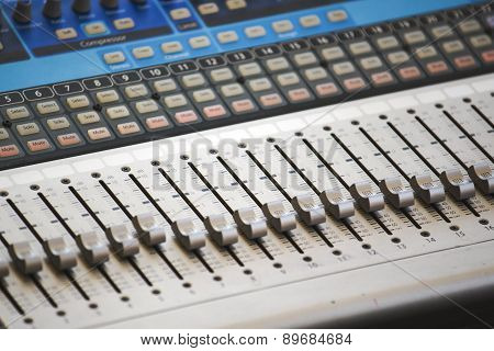 Control Board Of Sound Mixer