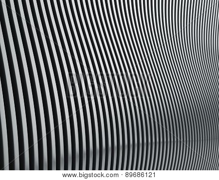 Metal Wall In The Form Of Waves