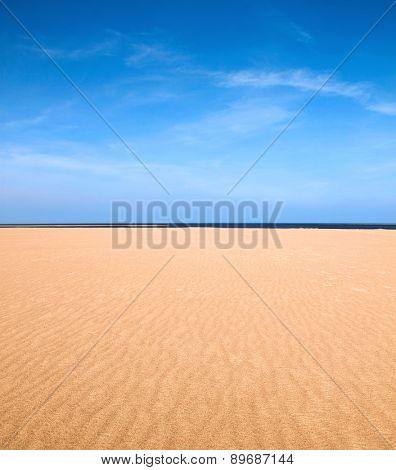 Empty beach scene as nature background
