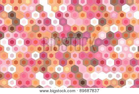 Vector Hexagonal Design Background.geometric Pattern.