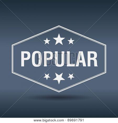 Popular Hexagonal White Vintage Retro Style Label