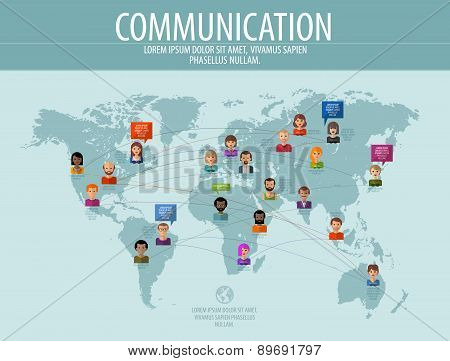 communication vector logo design template. business or people icon.