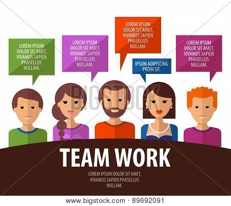 teamwork vector logo design template. business, communication or people icon.