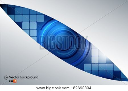 Blue and silver vector abstract technology background