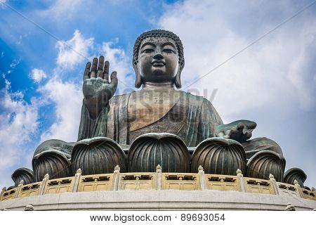 Hong Kong, China at the Tian Tan Buddha.