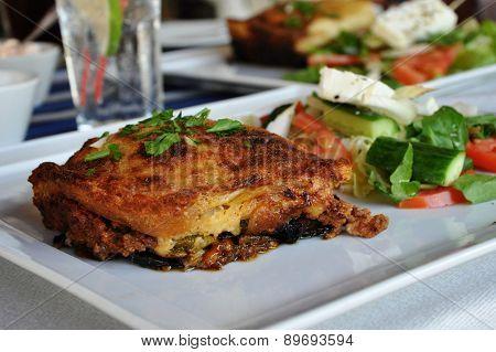 Moussakas And Salad