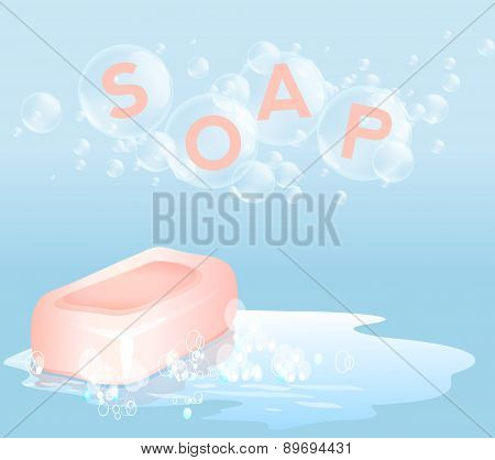 Soap with bubbles