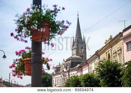 Turda Old City Center View