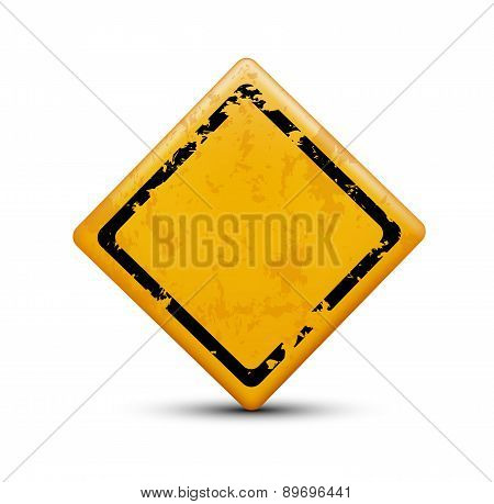 Metal Warning Sign