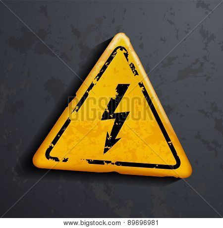 Metal Sign High Voltage