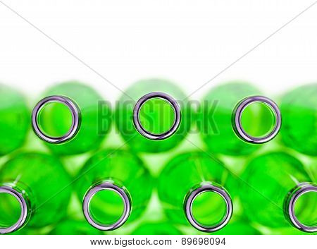 Empty Green Soda Bottles , Isolated