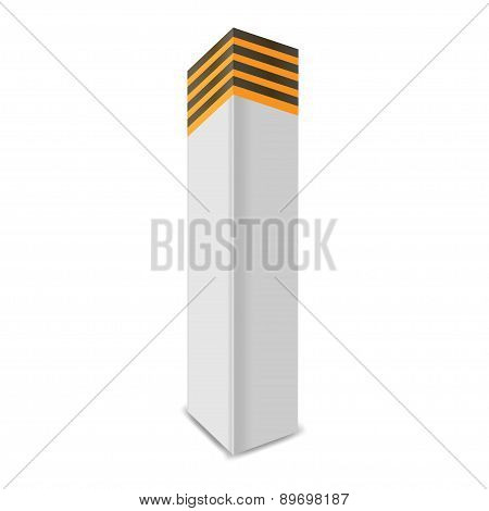 boundary post. Vector illustration