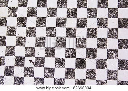 texture background of an old chessboard