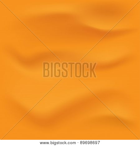Wrinkled orange fabric.Vector illustration