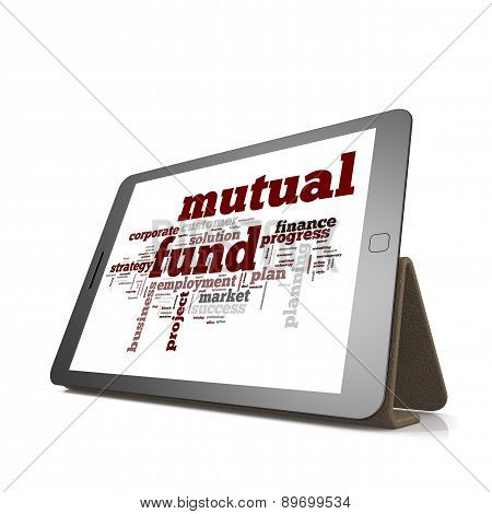 Mutual Fund Word Cloud On Tablet