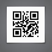 picture of qr-code  - Note labels with qr codes - JPG