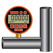 stock photo of manometer  - gas manometer isolated on white background vector illustration - JPG